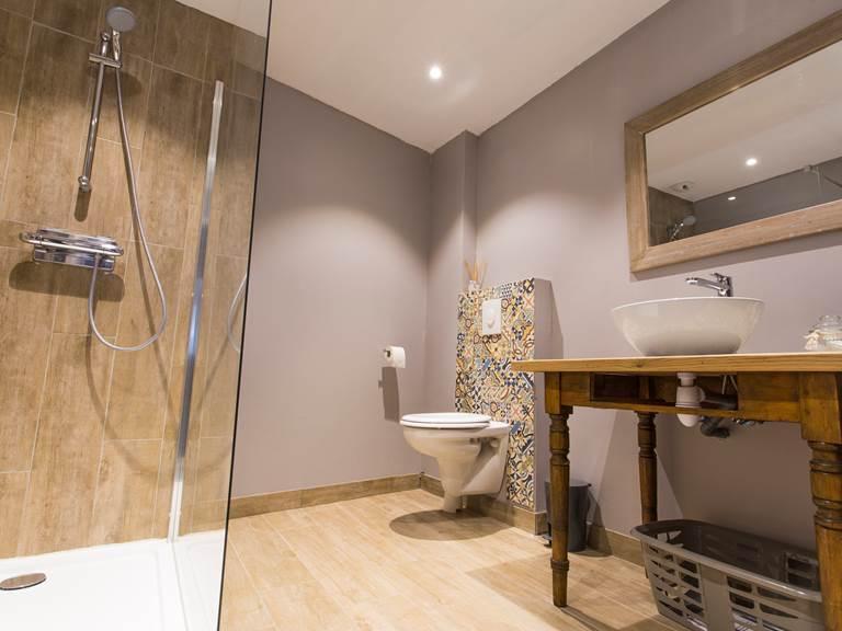 Salle d'eau avec douche à l'italienne 90x120cm