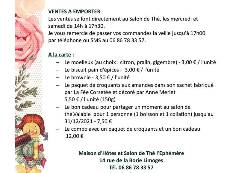 Les gourmandises du salon de thé l'Ephémère - Limoges