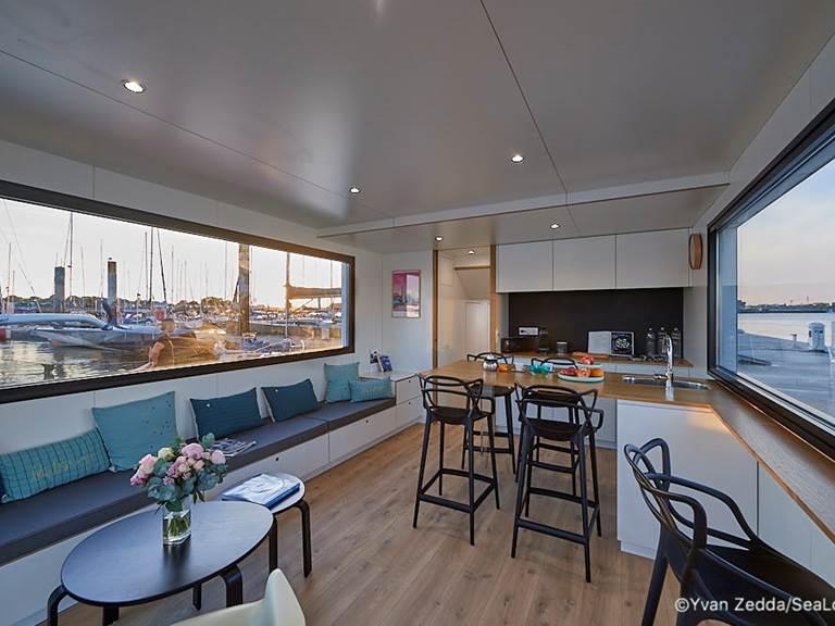 espace cuisine - Lodge Boat L'Endroit