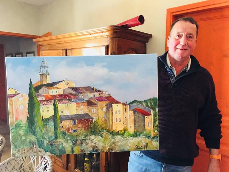 Le village médiéval de Venterol peint par Guy