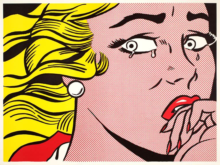 Roy Lichtenstein, Crying Girl, 1963 Lithographie offset sur papier vélin blanc cassé léger 45.8 x 61 cm © Estate of Roy Lichtenstein  SABAM 2020