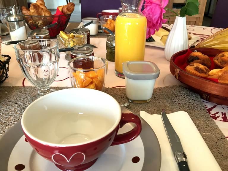 Petits déjeuners à Côté Granges