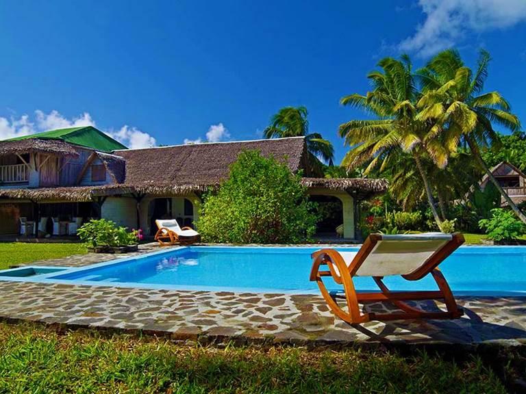 villa eulophellia-piscine-les villas de Sainte Marie-Madagascar