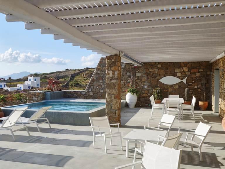 Villa Ficus Mykonos terrasse