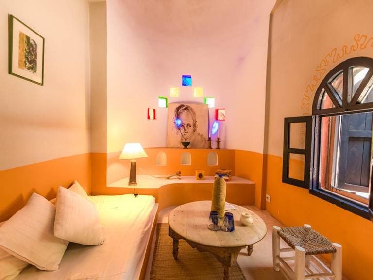 Riad Baoussala Essaouira - chambre oasis - salon