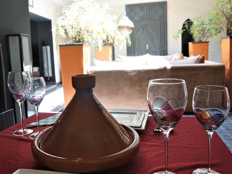 diner  au Riad Ralhaya