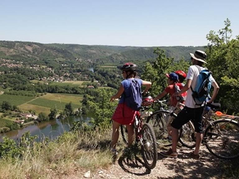 A vélo dans la vallée du Lot