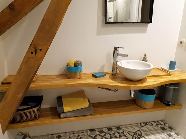 Le charme de la salle de bain de Jeanne