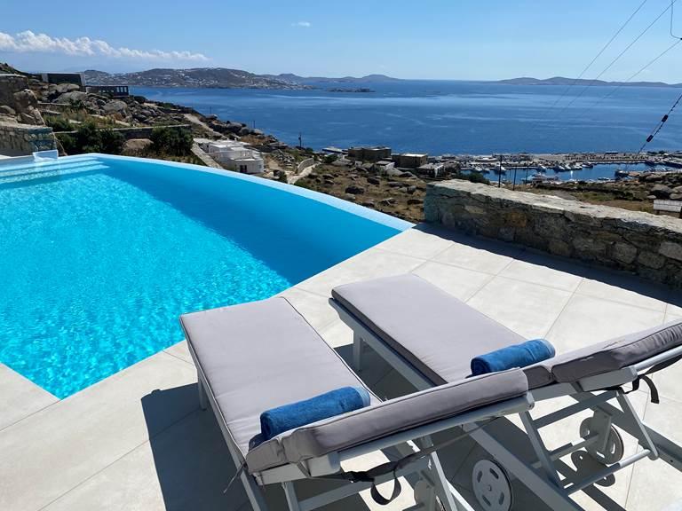 Piscine Vue Mer  Villa Zélia Mykonos