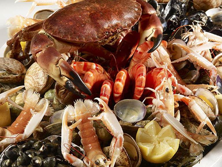 menu fruits de mer