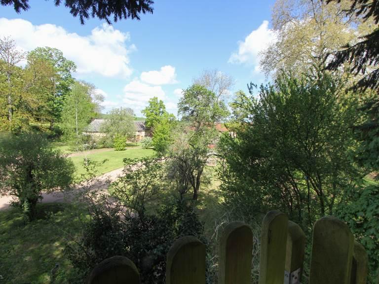 La vue côté parc
