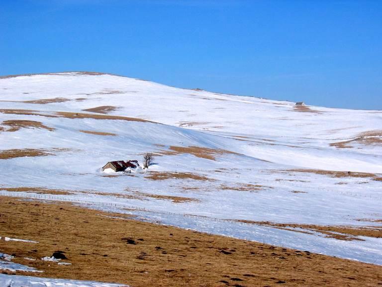 Buron du Carteirou en fin d'hiver