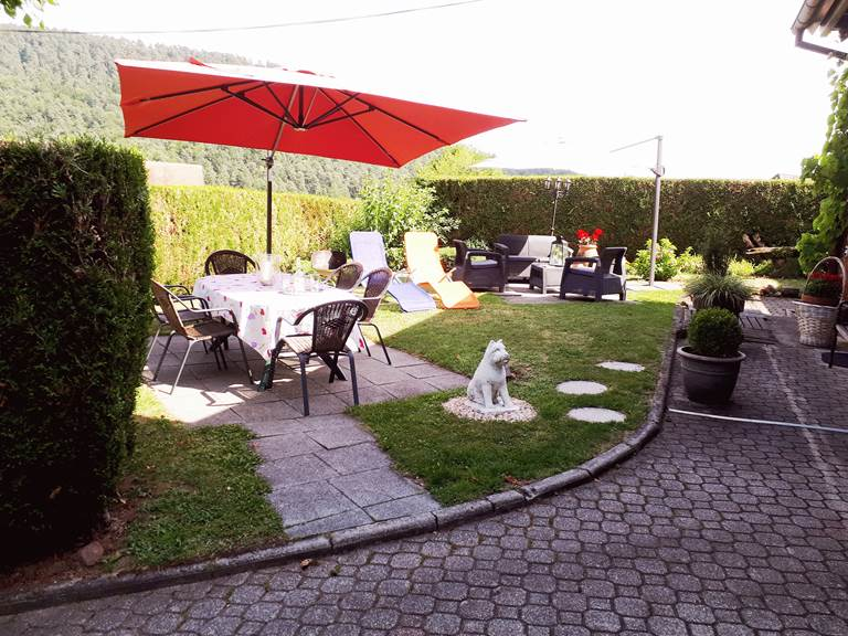 Le jardin privatif du gîte