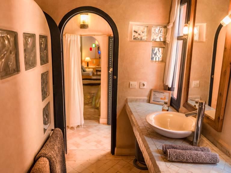 riad Baoussala Essaouira - chambre Oasis - salle de bain