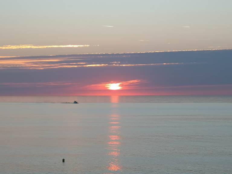 coucher de soleil à Yport le 3 août 2018