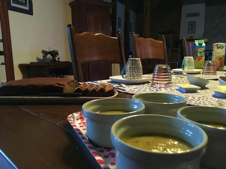 Petit-dejeuner Bio et en grande partie fait maison