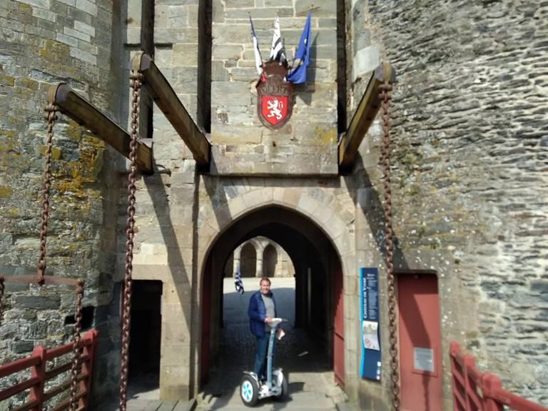 Balade gyropode chateau médiéval de Vitré