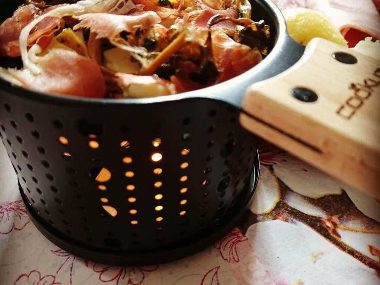 raclette a` la bougie