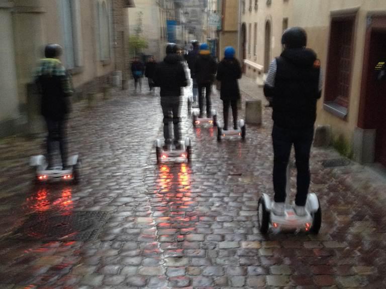Equipe de pilotes , rue Saint Melaine. Dimanche 12 nov 2017
