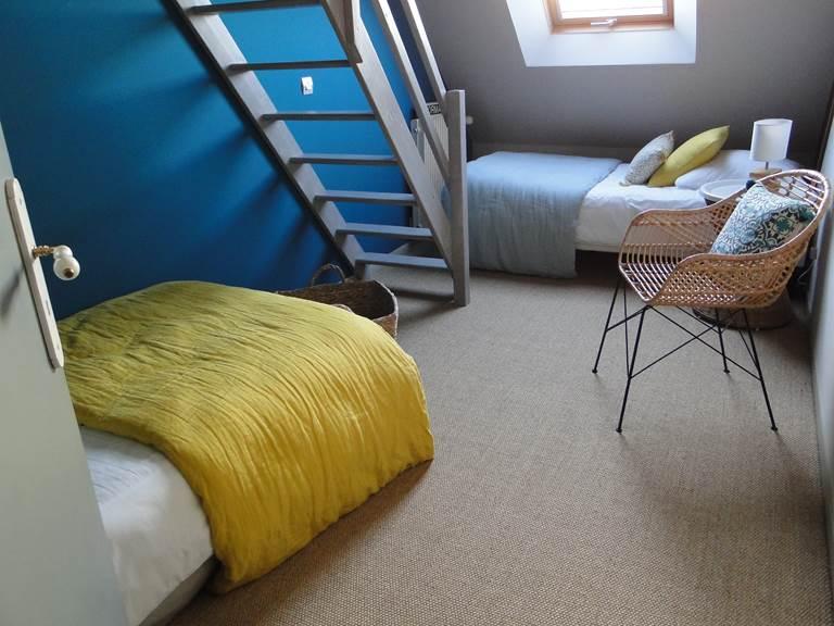 Chambre Guillaume, du côté des enfants, 2 lits simples