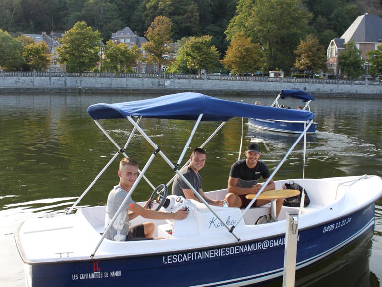 Bateau sans permis - Les Capitaineries de Namur