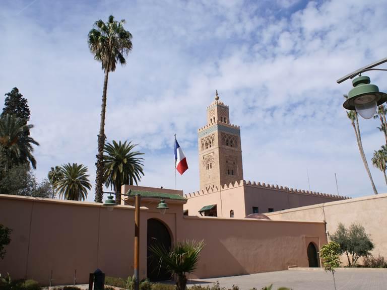 koutoubia-drapeau  -marrakech
