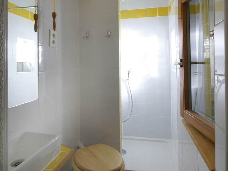 Salle d'eau (lave-main, WC, douche)