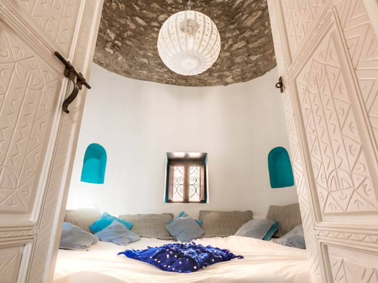 riad Baoussala Essaouira - suite Marabout - chambre ronde