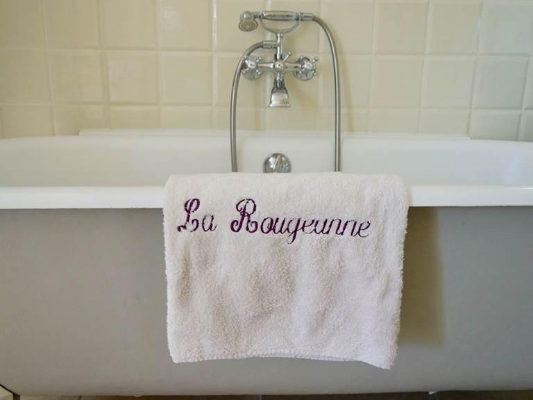 Chambre Acanthe avec baignoire aux chambres d'hôtes la Rougeanne près de Carcassonne dans l'Aude