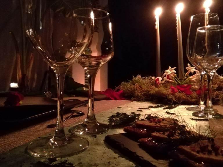 dîner aux chandelles Jardin de Ravintsara