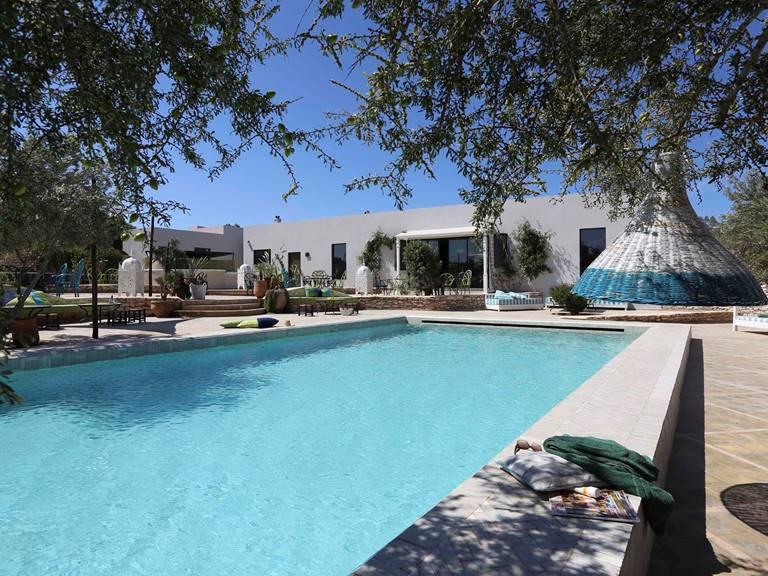 Restaurant des Jardins de Villa Maroc et sa piscine