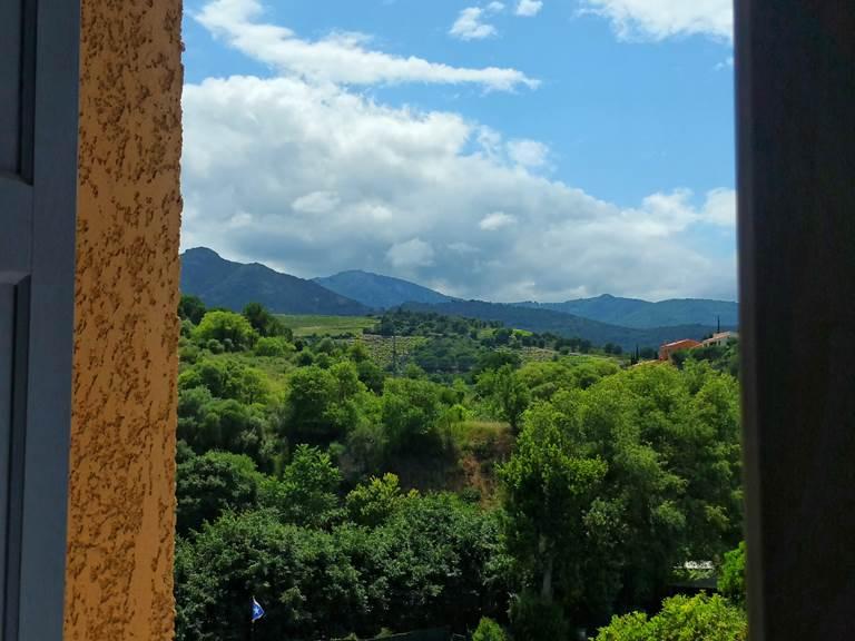 11- vue montagne location collioure