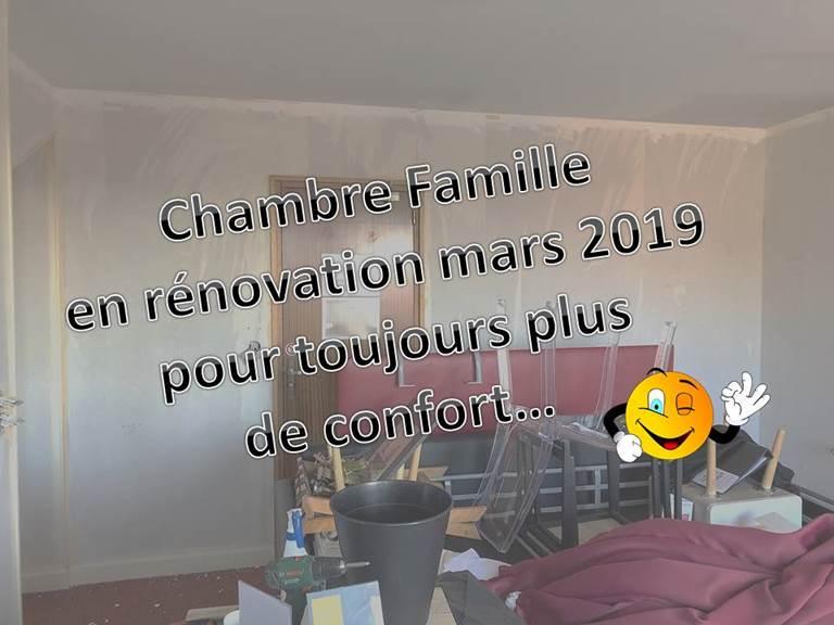 CHAMBRE FAMILLE EN TRAVAUX