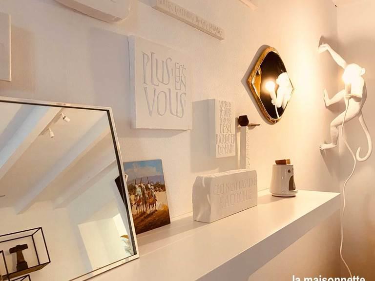 Salon de la Maisonnette des matins rubis (chambre d'hôte près de Toulouse)