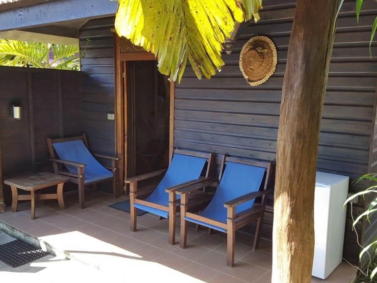 Extérieur bungalow confort bleu