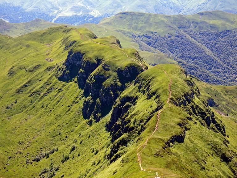 Vue du sommet du Puy Mary