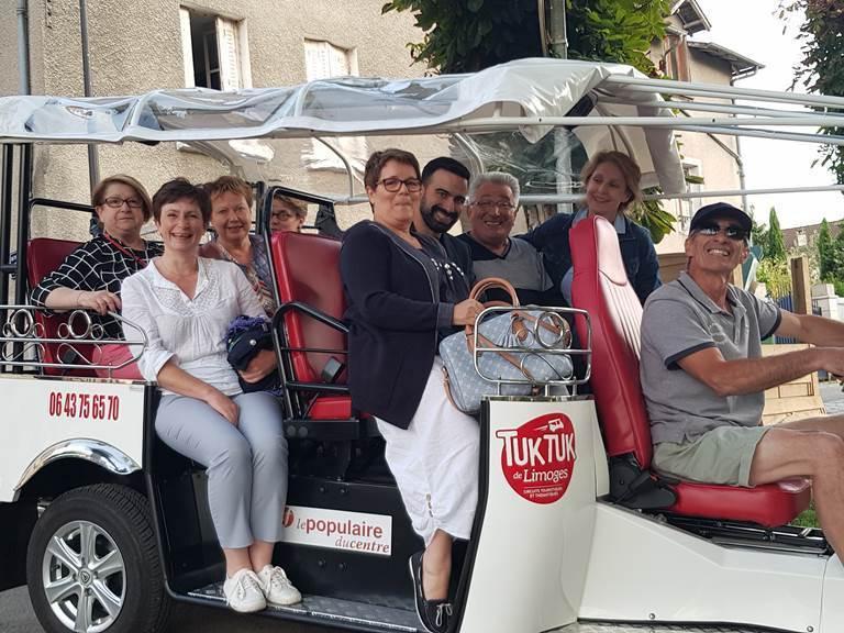 tuk tuk Limoges apero dinatoire rue darnet