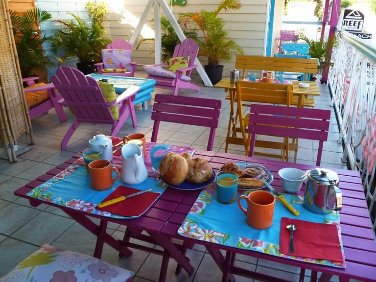 cuisine et terrasse commune