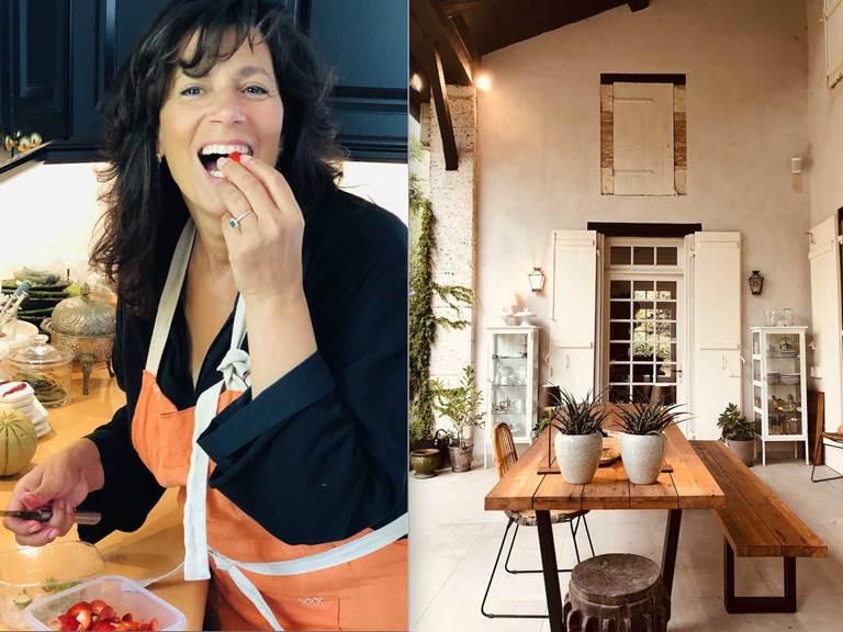 Moryem fraises et Table petit dejeuner-chambre-d-hote-lesmatinsrubis-tarn-et-garonne-occitanie-location-toulouse