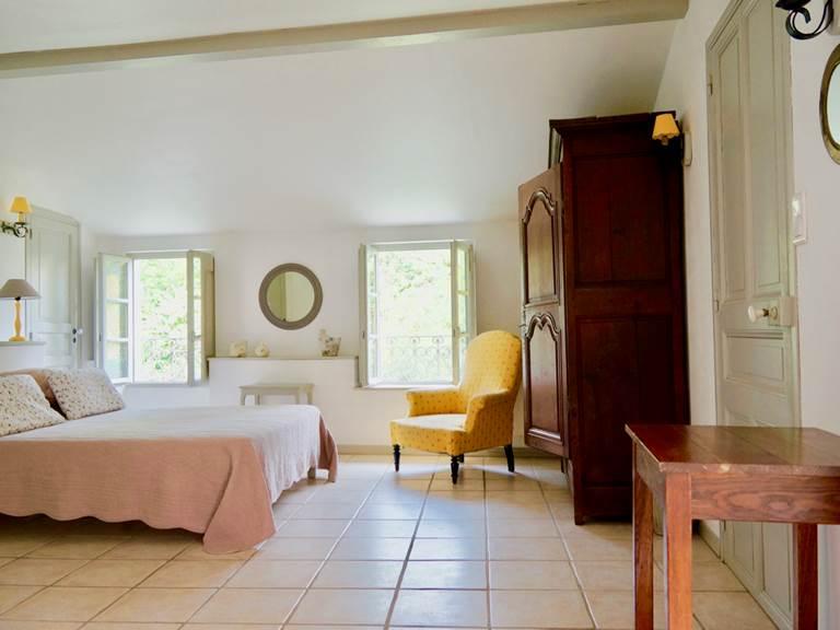 Chambre familiale olivier aux chambres d'hôtes la Rougeanne près de Carcassonne dans l'Aude