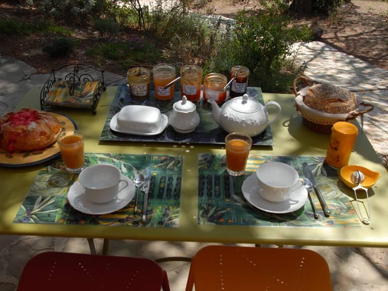 Un petit déjeuner maison...