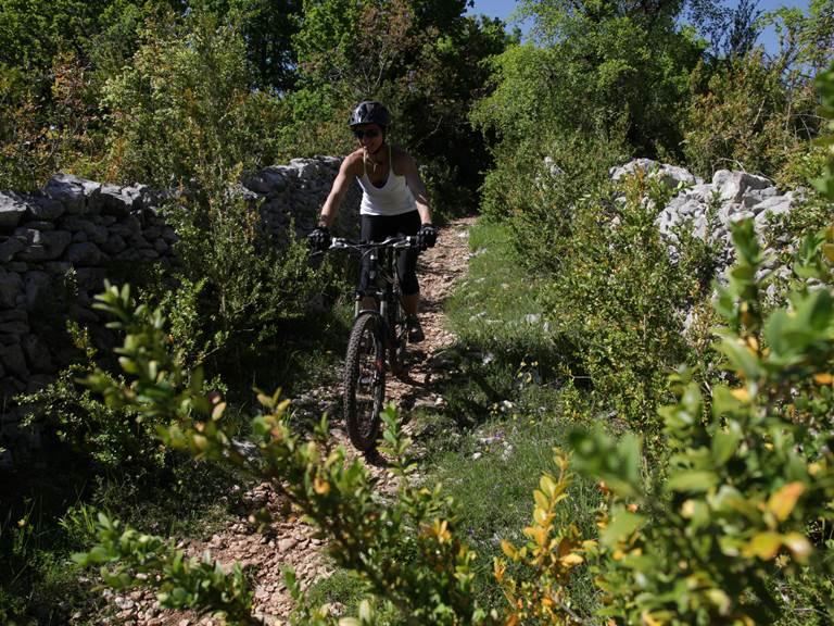 Descente sur les sentiers du causse © Lot Tourisme - P