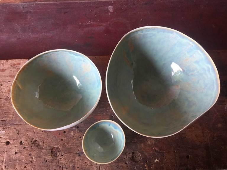 3 pots porcelaine cours de poterie chambre-d-hote les matins rubis-tarn-et-garonne-occitanie-location-toulouse