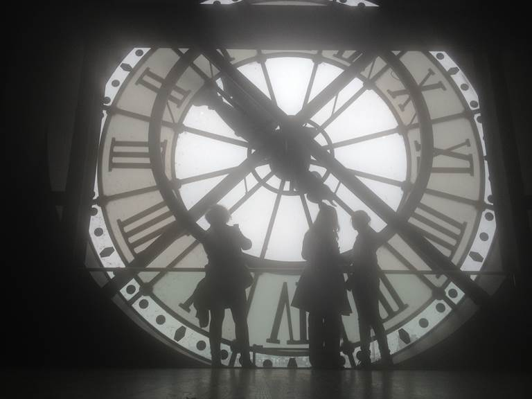 The clock of Orsay Museum reminding us that it used to be a railway station...