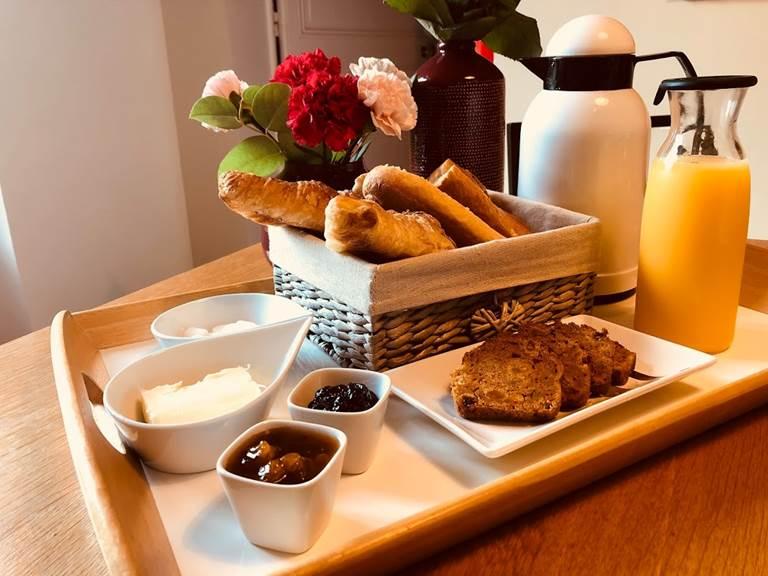 Exemple de plateau petit-déjeuner