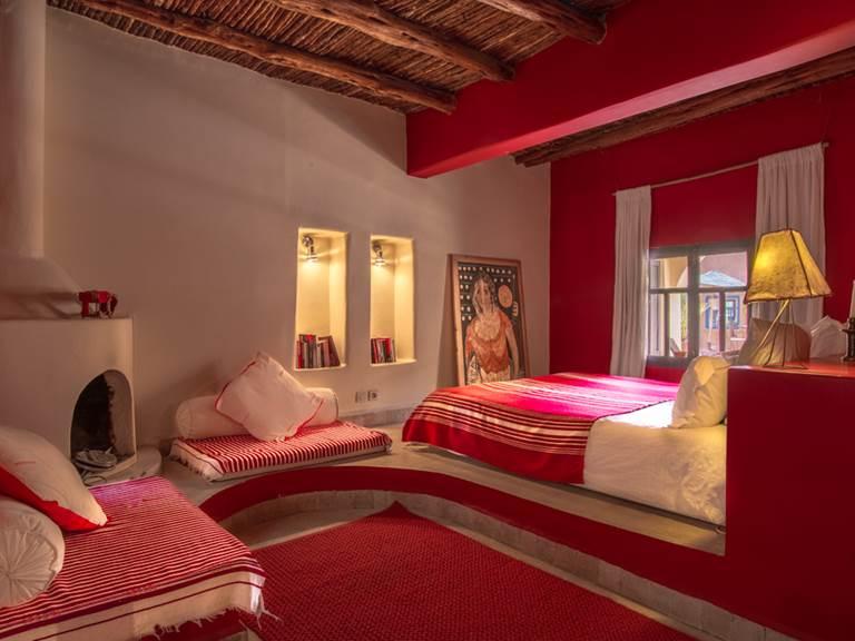 riad Baoussala Essaouira - chambre rouge