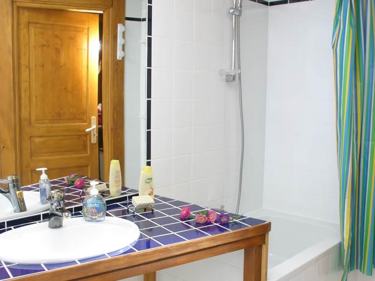 Salle de bain avec baignoire sabot et WC