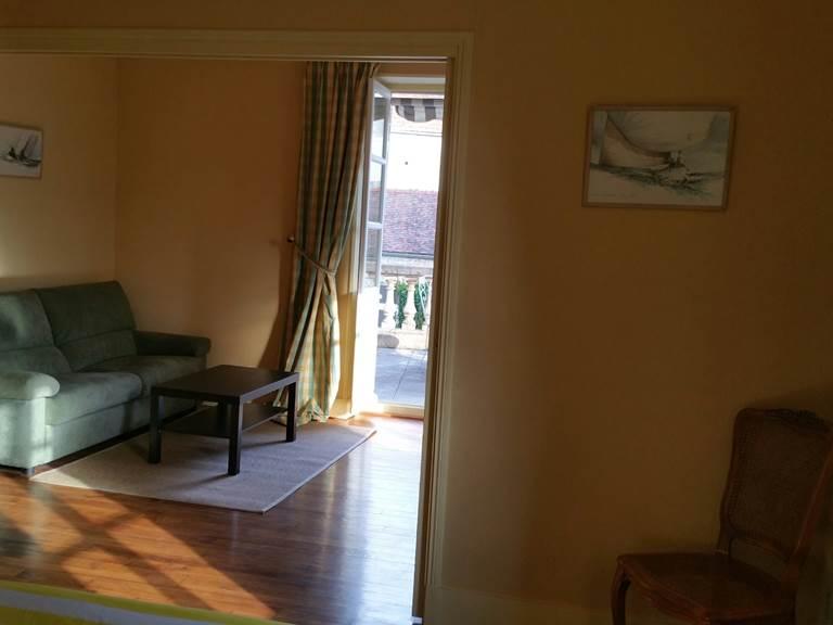 Salon de la Suite avec Terrasse avec canapé-lit