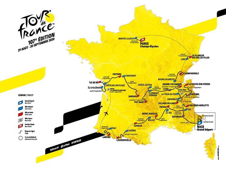 Carte tourdefrance2020