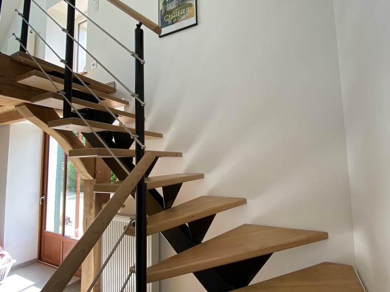 Escalier access mezzanine